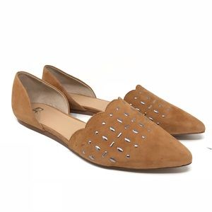Joe's Jeans Shoes - Joes Jeans Kindness Flats Tan Suede Studded Sz 10